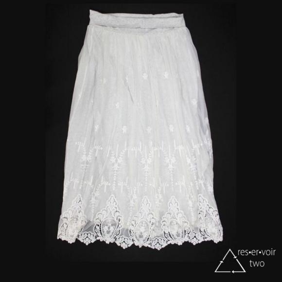 Sundance Dresses & Skirts - Sundance Astoria Skirt Embroidered Lace Modal